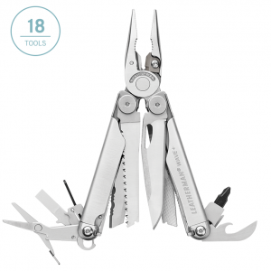 Leatherman Wave Plus multi-tool has 18 tools